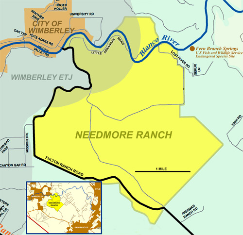 Needmore Ranch Map